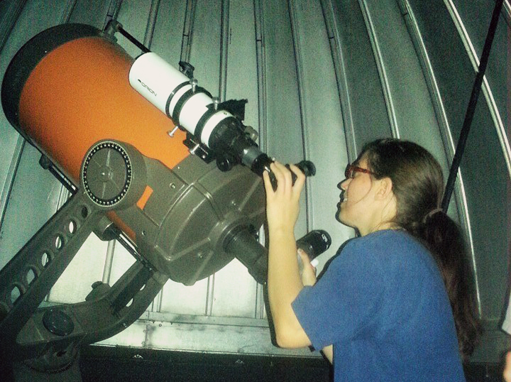 Me at the 14-inch historic SCT at Ashcroft Observatory